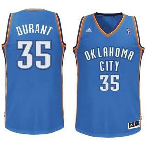Jugend Oklahoma City Thunder #35 Kevin Durant  Revolution 30 Swingman königlichen Blau Kaufen Basketball Trikots