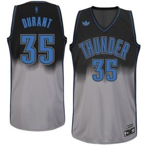 Kevin Durant Oklahoma City Thunder Fadeaway Swingman Kaufen Basketball Trikots-Schwarz/Gray