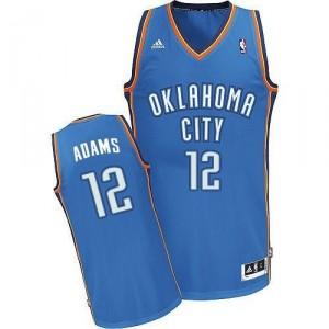 Oklahoma City Thunder #12 Steven Adams Revolution 30 Swingman Blau Kaufen Basketball Trikots
