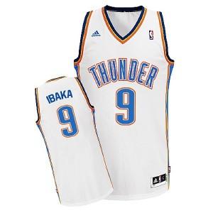 Oklahoma City Thunder #9 Serge Ibaka Revolution 30 Swingman Weiß Kaufen Basketball Trikots