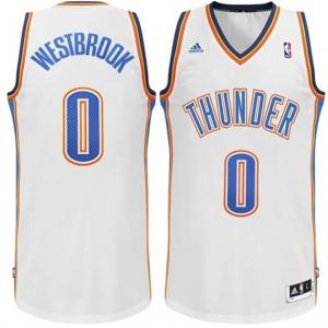 Russell Westbrook Oklahoma City Thunder #0 Revolution 30 Swingman Startseite Weiß Kaufen Basketball Trikots