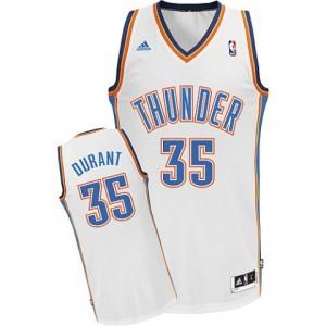Kevin Durant Oklahoma City Thunder #35 Revolution 30 Swingman Weiß Kaufen Basketball Trikots