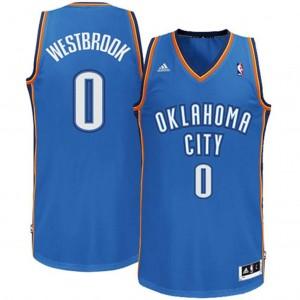 Oklahoma City Thunder #0 Russell Westbrook Revolution 30 Swingman Road königlichen Blau Kaufen Basketball Trikots