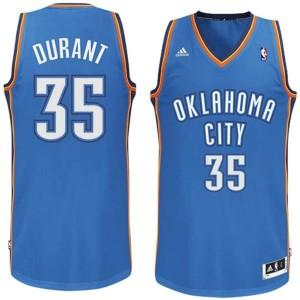 Kevin Durant Oklahoma City Thunder #35  Revolution 30 Swingman königlichen Blau Kaufen Basketball Trikots