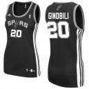 San Antonio Spurs &20 Manu Ginobili Women Black Jersey