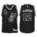 Youth San Antonio Spurs &12 Lamarcus Aldridge 2015-16 New Swingman Black Signature Spur Jersey