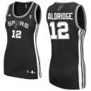 San Antonio Spurs &12 LaMarcus Aldridge Women Black Jersey