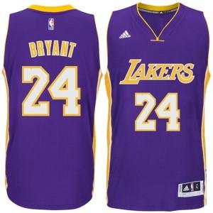 Los Angeles Lakers #24 Kobe Bryant 2014-15 neue Swingman Road Purple Kaufen Basketball Trikots
